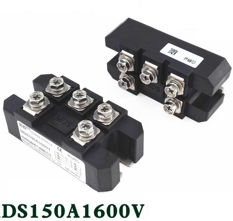 1PC MDS150A 3-Phase Diode Bridge Rectifier 150A Amp 1600V Copper 150 Celsius 80x40x33mm Metal Case Diode Bridge Control