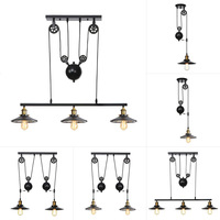 Rh Style Individual Creativity Retro Industrial Black Led Edison Bulb Chandelier 110 220v Long Rope Hanging Chain Light Fixture