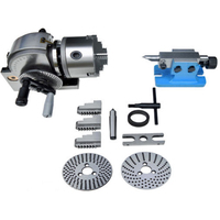 UK/EU Stock BS 0 5 Indexing Dividing Head 3 Jaw Chuck Spiral Tailstock CNC Milling Machine