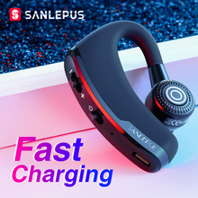 SANLEPUS Fast Charging Bluetooth Headset Business Wireless Earphone Car Phone Handsfree MIC Music for iPhone Xiaomi Samsung