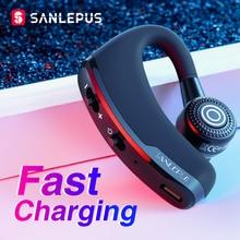 SANLEPUS شحن سريع سماعة بلوتوث الأعمال اللاسلكية سماعة هاتف السيارة يدوي MIC الموسيقى آيفون شاومي سامسونج