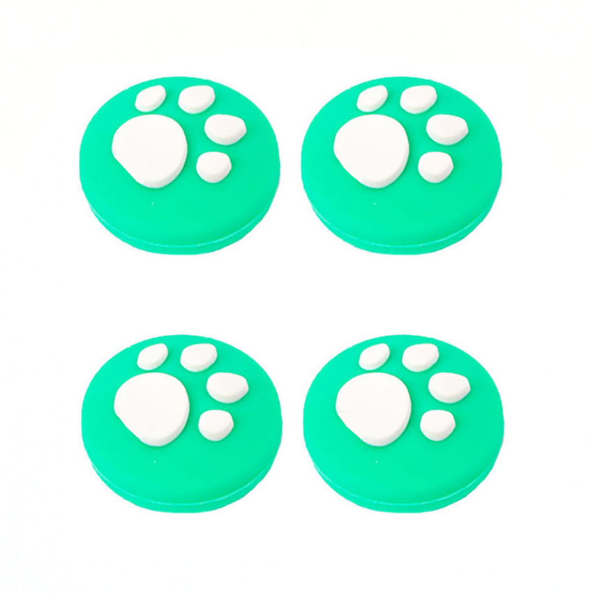 cltgxdd 4pcs Animal Crossing Cat Paw Analog Stick Grip Cap Joystick Cover For Nintendo Switch Lite Joy-Con Silicone non-slip cap