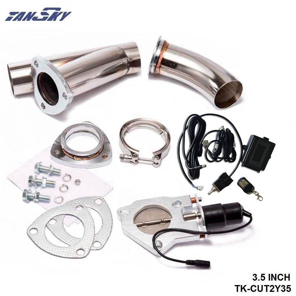 3 Electric Exhaust Catback Downpipe Cutout E-Cut Out Valve System Controller Remote Kit
