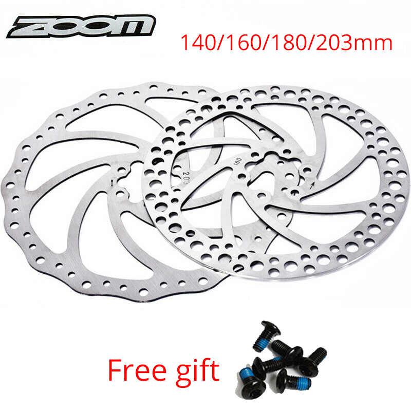 MTB Bike Hydraulic Disc Brakes Calipers Floating Disc Brake Rotor 160//180//203mm