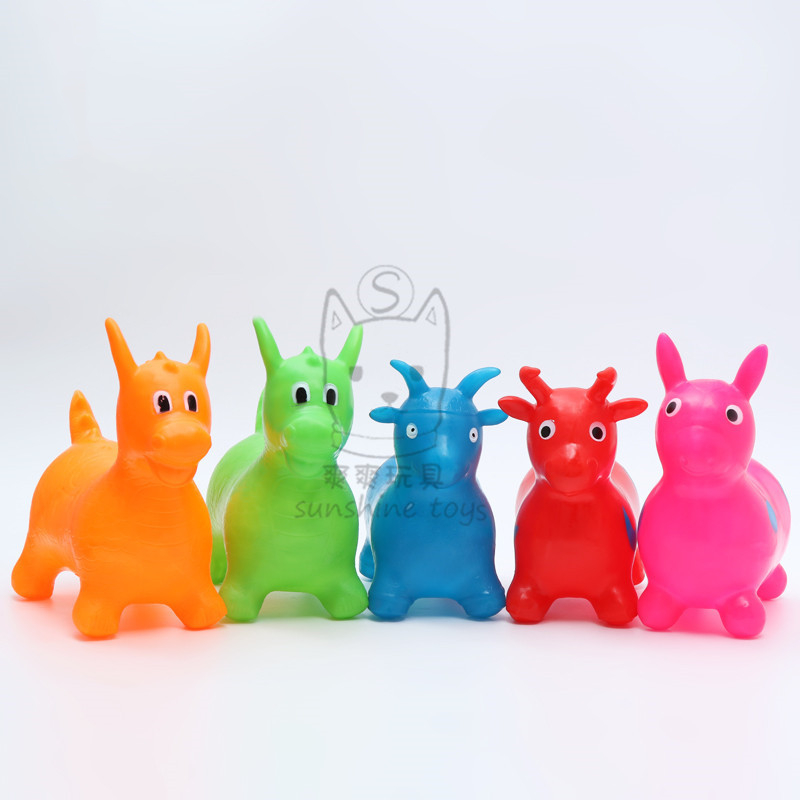 32CM Children Sports Games Ride on Animal Toys Baby Cartoon Inflatable Jumping Horse Bouncy Toys for Kids