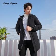 Mens Plus size Slim fit down jacket 2019 Winter White Duck Down Splicing Hooded Keep warm Jacket Men Skinny jackets Coats