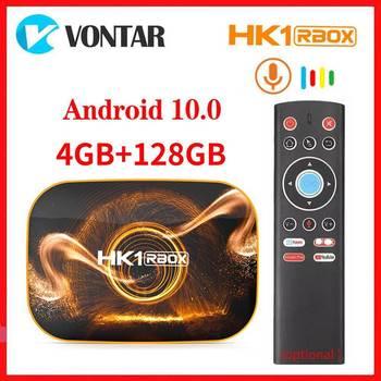 Vontar Android 10.0 Smart TV Box Android 10 TVBOX 4K Media Player HK1 RBOX R1 Max 4GB RAM 128GB ROM USB3.0 Youtube Set Top Box