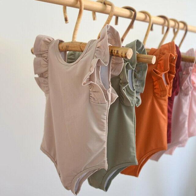 PUDCOCO Newborn Baby Boy Girl Unisex Cotton Bodysuit Ruffle Solid Jumpsuit Playsuit Clothes Set Sunsuit 0-18M