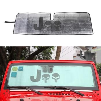 車のインテリアフロントガラスサンシェードシェイド用ジープラングラー JK 2007-2017 アルミ箔抗 Uv 防止太陽バイザーアクセサリー