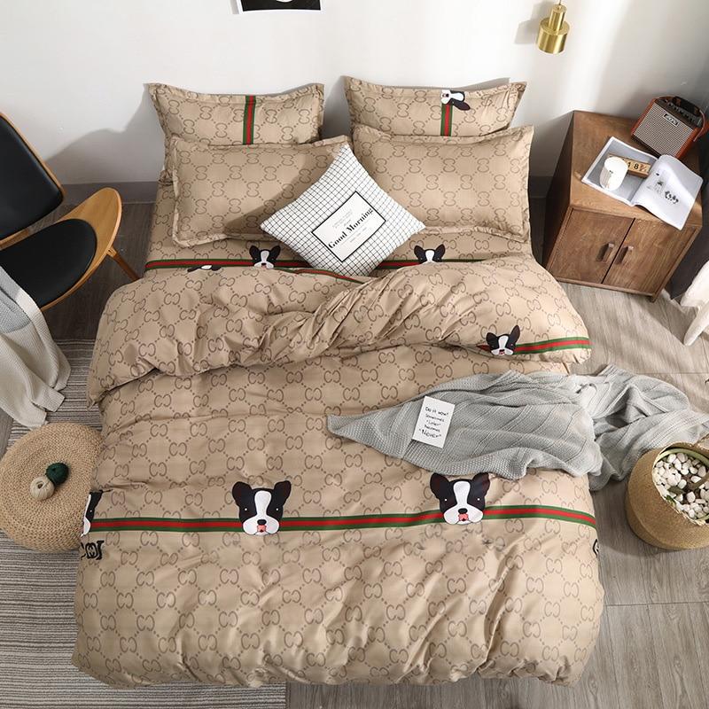 Luxury Bedding Sets Dog Duvet Cover Bed Sheet Pillowcase Bedspread Comforter Cover New Children Adult Bedding Set for Home|Bedding Sets| - AliExpress