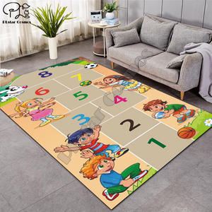 Carpet Rugs Game-Mat Board Living-Room Soft Baby Kid Cartoon for Planet Maze 002 Map