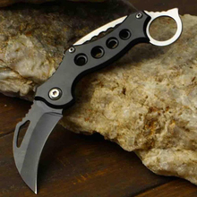 Outdoor Karambit Knife Hunting Knives Survival Tactical Claw Knife Min Pocket Self Defense Offensive Camping Tool Keychain Knife