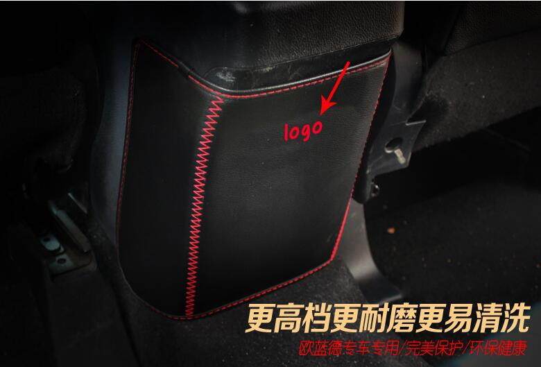 Car Styling fit for <font><b>Mitsubishi</b></font> Outlander 2013-2016 Car Armrests Kick Pad Rear Seat Protection Interior Decoration Accessories image