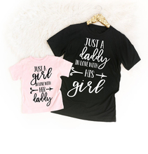 Matching Father and Daughter Shirts Daddy and Me T Shirts Daddys Little Girl Shirt Daddy Daughter T-Shirts Father #8217 s Day Gift cheap jiangkao Fashion Short Fits true to size take your normal size Polyester Solid Father Daughter