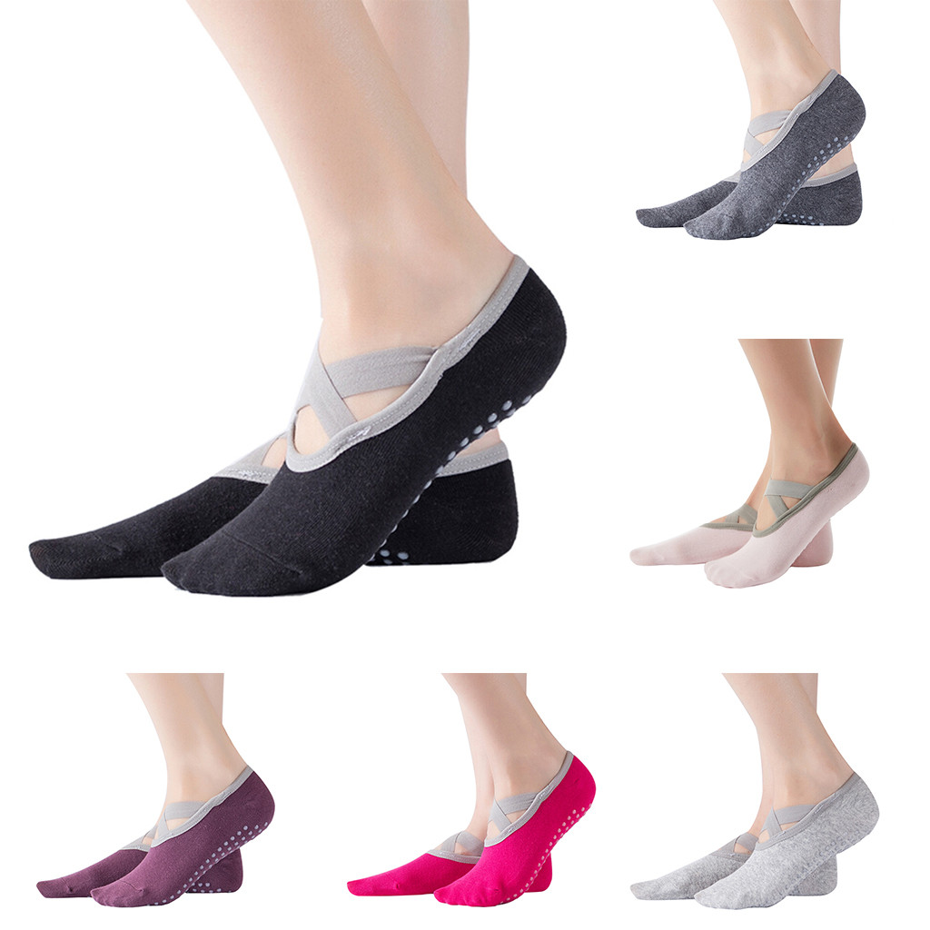 Women's Yoga Socks Low Cut Slip Sticky Bottom Fitness Pilates Pilates Socks Women's Dance Slippers Fitness Ballet Socks