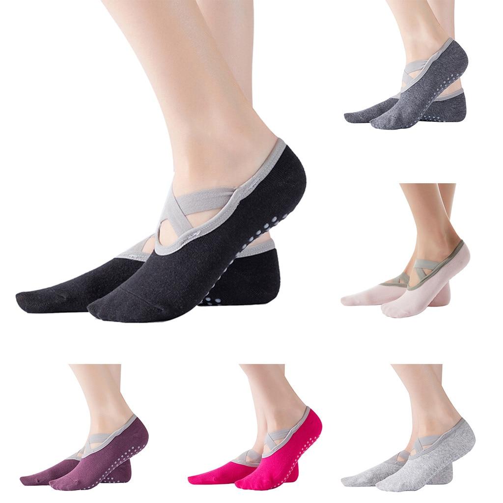 Women's Yoga Socks Low Cut Slip Sticky Bottom Fitness Pilates Pilates Socks Women's Dance Slippers Fitness Ballet Socks