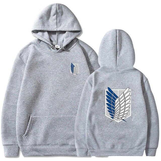 Attack on Titan Hoodie Men Fashion Loose Pullovers Casaul Tops oversize hoodie sweatshirt women Regular pullover hoodies 2