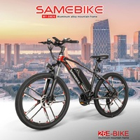 Samebike MYSM26 26 Inch Elektrische Bromfiets Fiets 48V 8AH 350W 30 Km/h E Bike Variabele Snelheid Systeem schijfrem-in Elektrische fiets van sport & Entertainment op