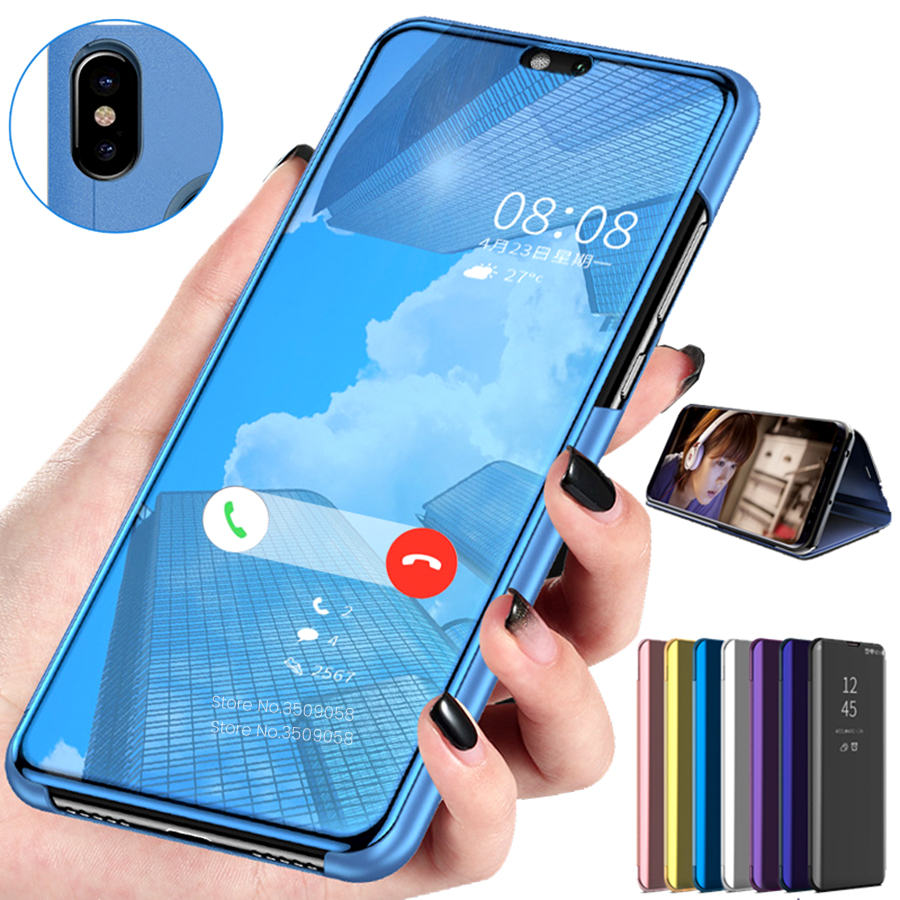 Mirror Flip <font><b>Case</b></font> for Huawei honor 10 light Cover <font><b>Cases</b></font> for honor 10 lite <font><b>10i</b></font> honor10 lite honer 10lite <font><b>honar</b></font> 10 i Standing <font><b>Case</b></font> image