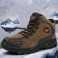 Men Winter Snow Shoes Outdoor Waterproof Climbing Boots Man Plush Tactical Shoes Warm Ankle Boots Plus Size 39 46|Hiking Shoes|   -