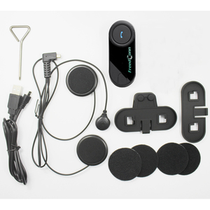 Image 5 - Freedconn T COMOS bluetoothインターホンオートバイヘルメットワイヤレスヘッドセットインターホンfmラジオ + ソフトヘッドホンフルフェイスヘルメット