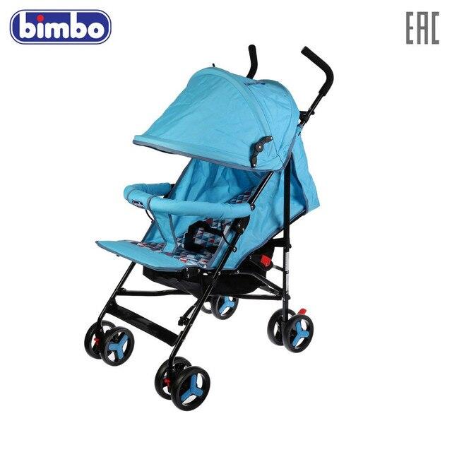 """Коляска-трость \""""BIMBO\"""" колеса 8*5,5\"""", глубокое канапе, 3 точечный ремень безопасности, цвет голубой, доставка от 2-х дней"""