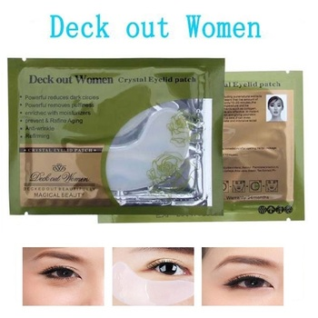 20Pcs=10Pairs Beauty Korean Cosmetics Deck Out Women Crystal Collagen Patches For Eye Remove Black Mask Skin Care