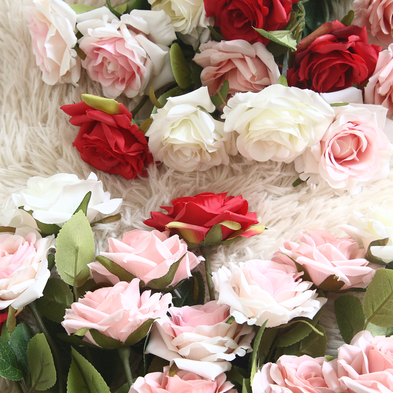 1Pc Simulation Angle Rose Artificial Silk Angle Rose Flowers Silk Home Decoration Latex Rose Wedding Party Imitation Flowers
