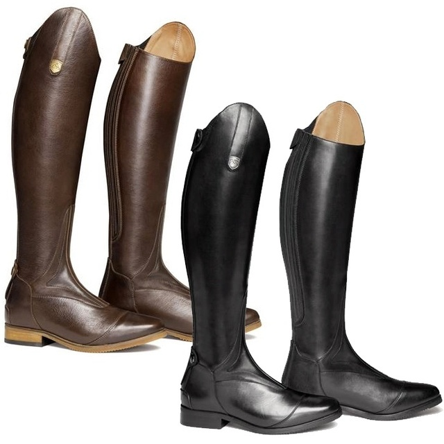 Cool Women Rider Horse Riding Boots Smooth Leather Knee High Boots Autumn Winter Warm High Boots Mountain Riding Boots 1