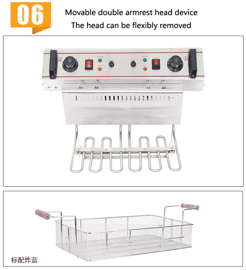 H5e941b95be0e4bcdb4740079c9d561c4k - 20L restaurant equipment kitchen equipment frying pan can be timed frying pan air fryer electric fryer