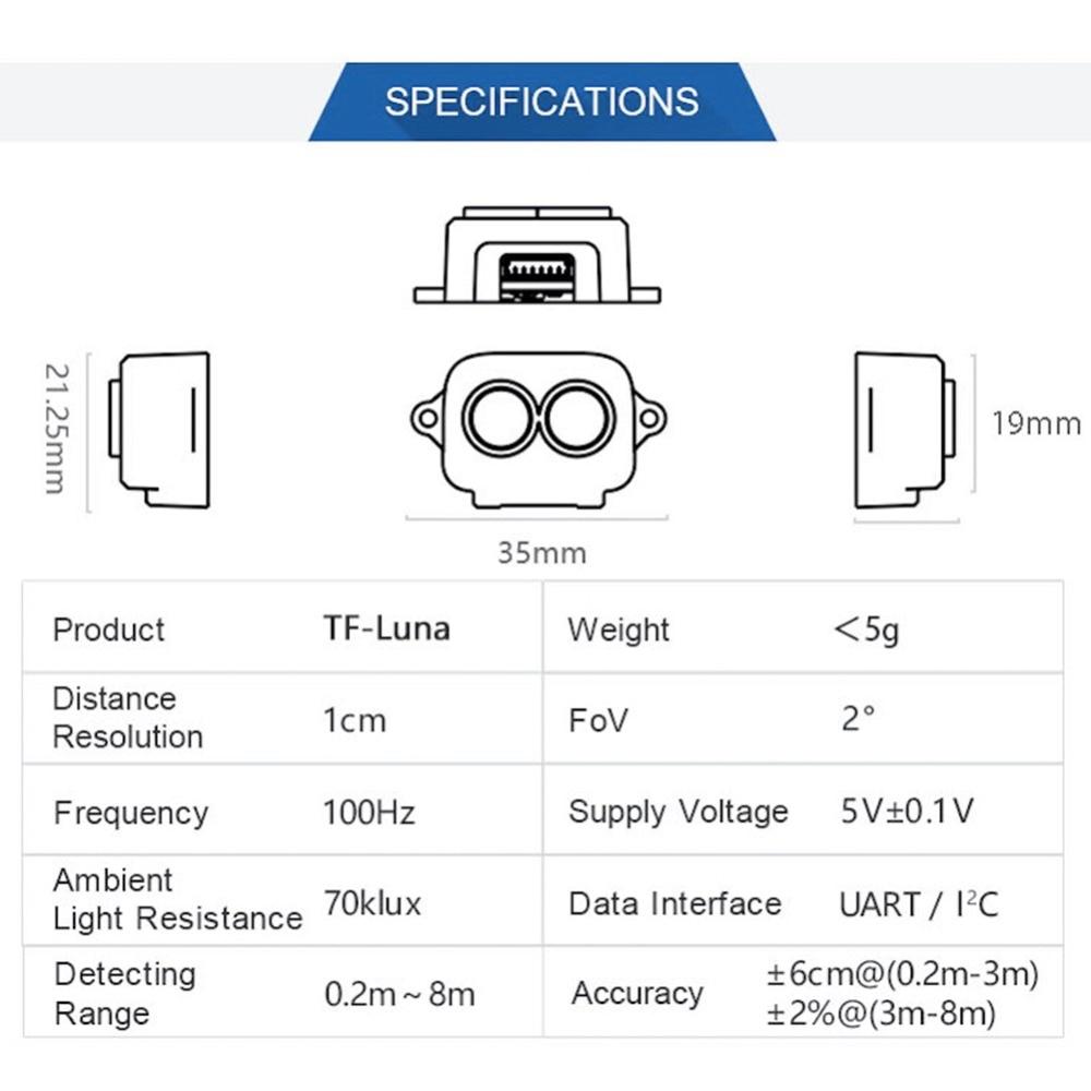 TF-Luna Range Finder Sensor tfmini  (2)