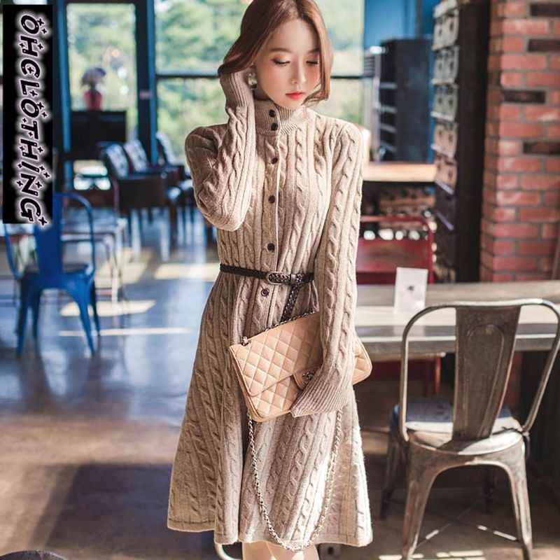 2020Poncho เสื้อสเวตเตอร์ถัก Feminino Ohclothing เกาหลีใต้ผู้หญิงฤดูหนาวใหม่เสื้อ Twist Cardigan ถักเสื้อกันหนาวหนาใน