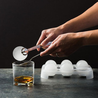 Standard Whisky Ice balls tools Ice Mold Creative Ice Box Ice lattice silicone mold kitchen homemade ice cube maker with lid