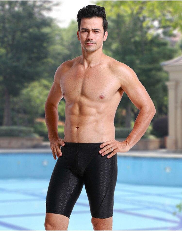 Faux Sharkskin Fashion Large Size Chinlon Swimming Trunks Men Short Swimming Trunks Loose Comfortable Surfing Boxer Bathing Suit