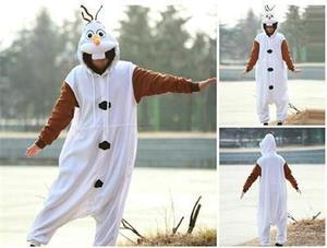 Image 3 - kigurumi Anime Adult Snowman Costume Pajamas Cosplay Jumpsuit Adult Pyjamas Party Dress