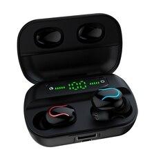 Ture Беспроводные стерео Bluetooth наушники с микрофоном дисплей питания стерео Музыка беспроводные наушники Мини Bluetooth наушники для телефона