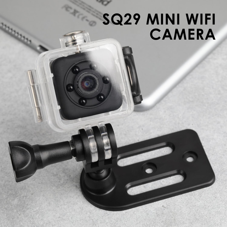 SQ29 IP Camera HD WIFI Night Vision Small Mini Sensor Cam Sports DV Camcorder Micro Camera DVR Motion with Waterproof Shell