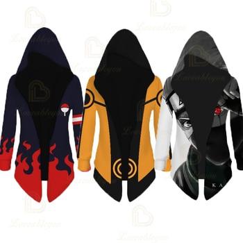 Naruto Namikaze Minato Cosplay Jacket Trench Robe Akatsuki Cloak Halloween Carnival Costume Men Women Hooded Cape Coat