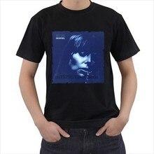 Moda nova preto branco camiseta tamanho s m l xl 2xl 3xl azul 1970s joni mitchell