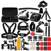 1 で 50 osmo カメラセットクリップベース selfie スティックポータブルケースバッグ dji osmo アクション osmo ポケットカメラアクセサリー