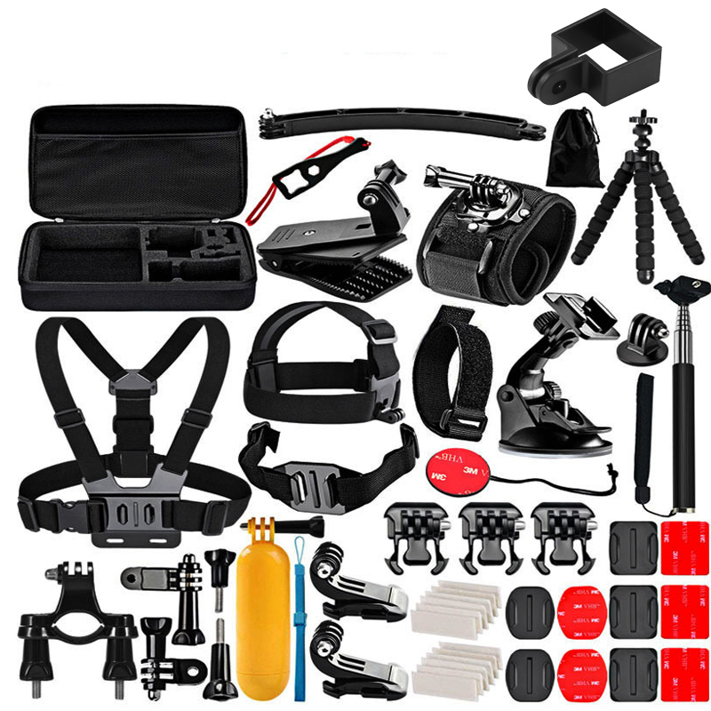 50 In 1 Osmo Camera Set Clip Base Selfie Stick Portable Case Bag For Dji Osmo Action  Osmo Pocket Camera Accessories