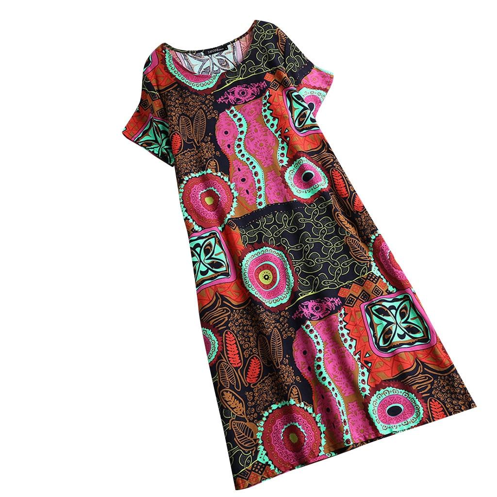 JAYCOSIN Plus Size Women Printing Party Dress Popular Sleeveless Short Sleeve Long Maxi Vestidos De Festa Women Elegant Dresses