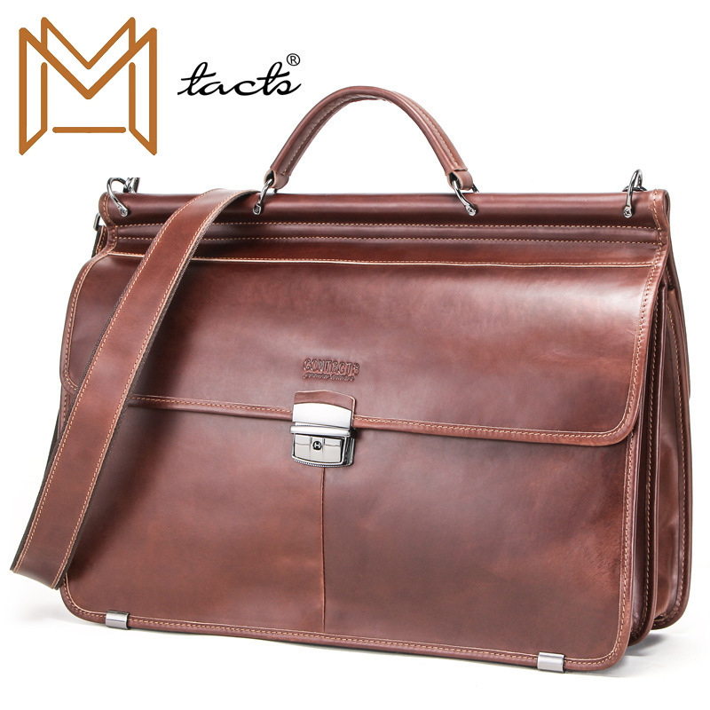 Black Angel Genuine Leather Man Business Affairs Briefcase Capacity More Function Male Package