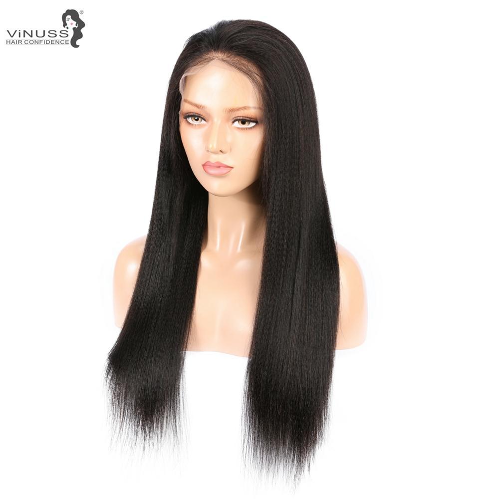 Искусственные волосы яки для кожи головы, прямые волосы на кружеве, человеческие волосы, парики 13x6, бесклеевые, 360, фронтальный парик на шнурке, предварительно выщипанные бразильские волосы Remy для женщин - 2