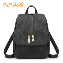 POMELOS Backpack Women 2019 Fashion Soft PU Leather Luxury Designer Female Bag Functional Bagpack
