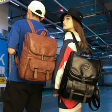2020 Vintage Unisex Backpack Quality PU Leather Bag Man or Women Ourdoor Travel Back Bags Large Female Backbag for Ladies Gift