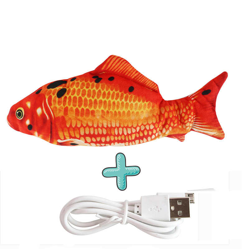 Cat USB Charger Toy Fish Interactive Electric floppy Fish Cat toy Realistic Pet Cats Chew Bite Toys Pet Supplies Cats dog toy 17