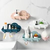 Veranstalter Bad Zubehör Haken Seife Halter Kosmetische Lagerung Box wand Dusche Wc Lagerung Box Kunststoff Kostenloser Punch