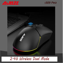 Ajazz i309Pro 2.4G bezprzewodowa mysz podwójny tryb wielokrotnego ładowania PAW3338 16000DPI profesjonalny komputer dla graczy mysz do gier dla comput