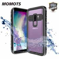MOMOTS IP68 Waterproof Shockproof Case for Samsung S10 S9 Plus Swimming Diving Case for Galaxy Note 10 9 8 Phone Cover